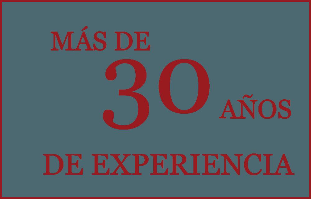 Más de 30 años de experiencia