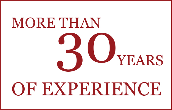 More than 30 years of experience